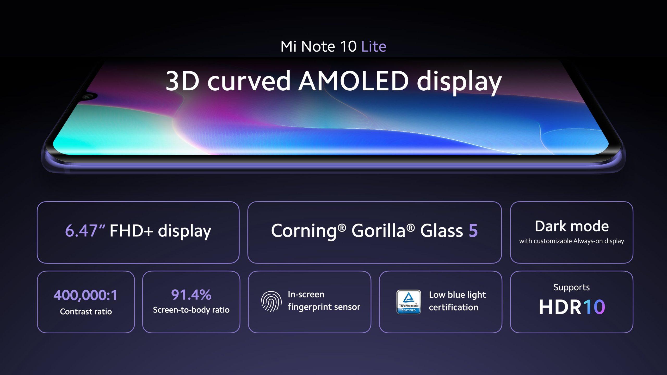 Nuevo Xiaomi Mi Note 10 Lite, características, especificaciones, precio. Noticias Xiaomi Adictos
