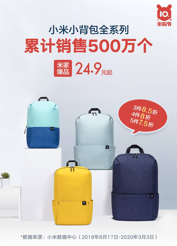 Las mochilas Mi Backpack de Xiaomi arrasan en ventas con más de 5 millones de unidades vendidas. Noticias Xiaomi Adictos