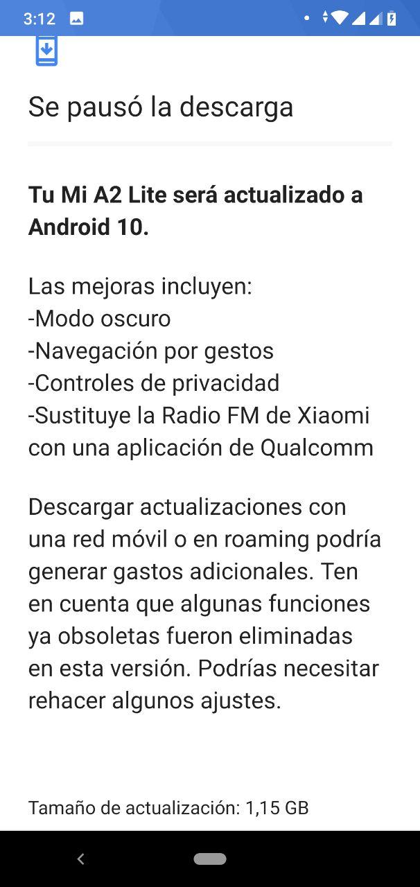 iaomi vuelve a relanzar Android 10 para el Xiaomi Mi A2 Lite. Noticias Xiaomi Adictos