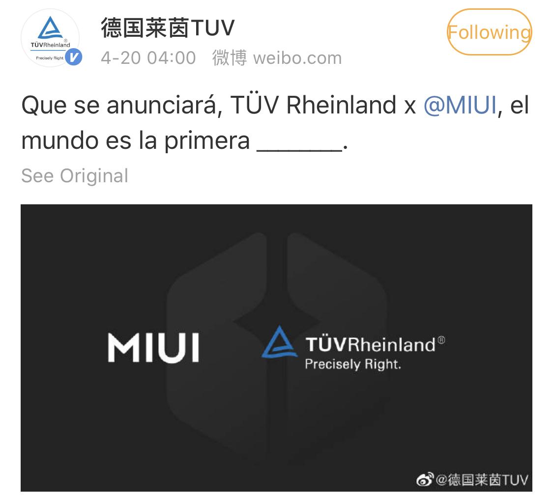 MIUI 12 será la primera capa de personalización Android con certificación TÜV Rheinland. Noticias Xiaomi Adictos
