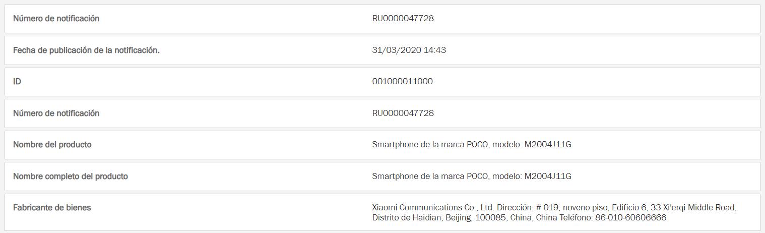 Un nuevo POCO se certifica en Europa y al parecer contará con una muy buena pantalla. Noticias Xiaomi Adictos