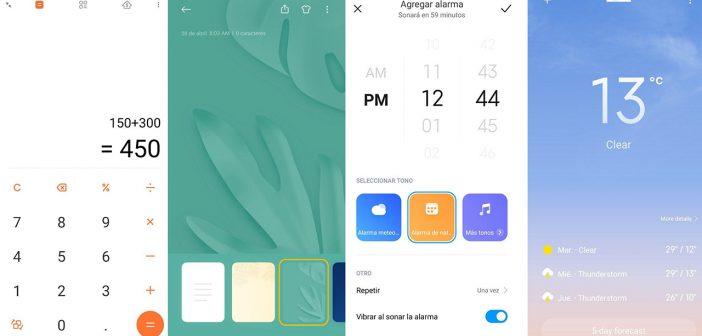 Ya puedes descargar y probar las nuevas aplicaciones de MIUI 12: Notas, Tiempo, Reloj, Calculadora y más.... Noticias Xiaomi Adictos