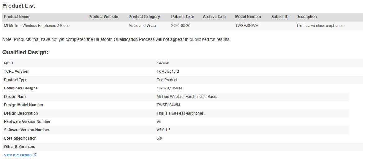 Los nuevos Redmi AirDots 2 ya están de camino: su certificación aparece en la Bluetooth SIG. Noticias Xiaomi Adictos