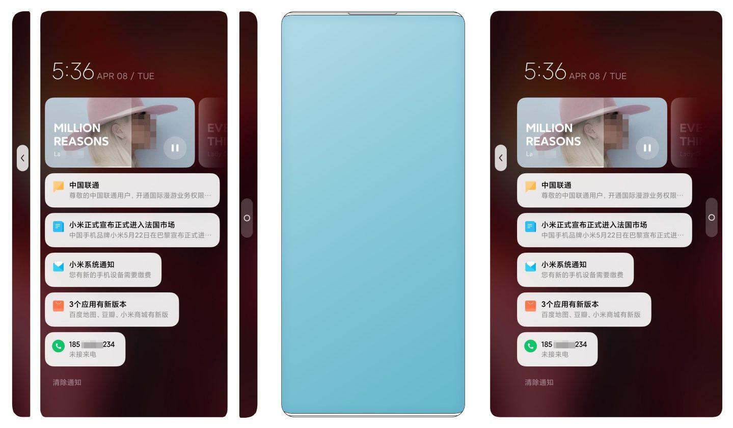 Xiaomi ya se imagina un nuevo smartphone con pantalla en formato cascada y cámara selfie oculta. Noticias Xiaomi Adictos