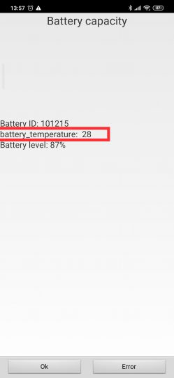 So you can see the battery temperature of your Xiaomi without installing third-party applications