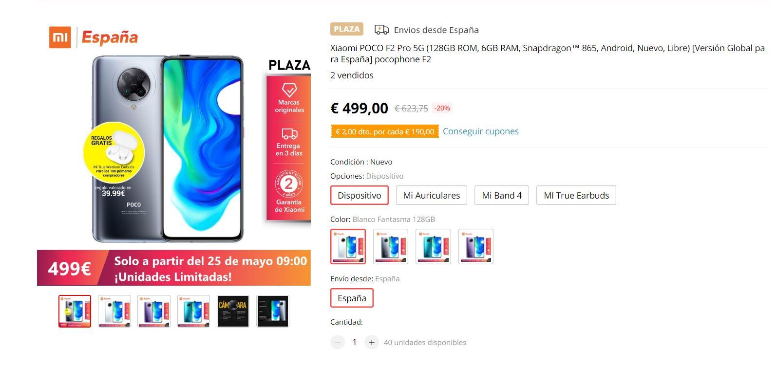 El nuevo POCO F2 Pro sale a la venta en España por 499 euros y unos Xiaomi AirDots de regalo. Noticias Xiaomi Adictos