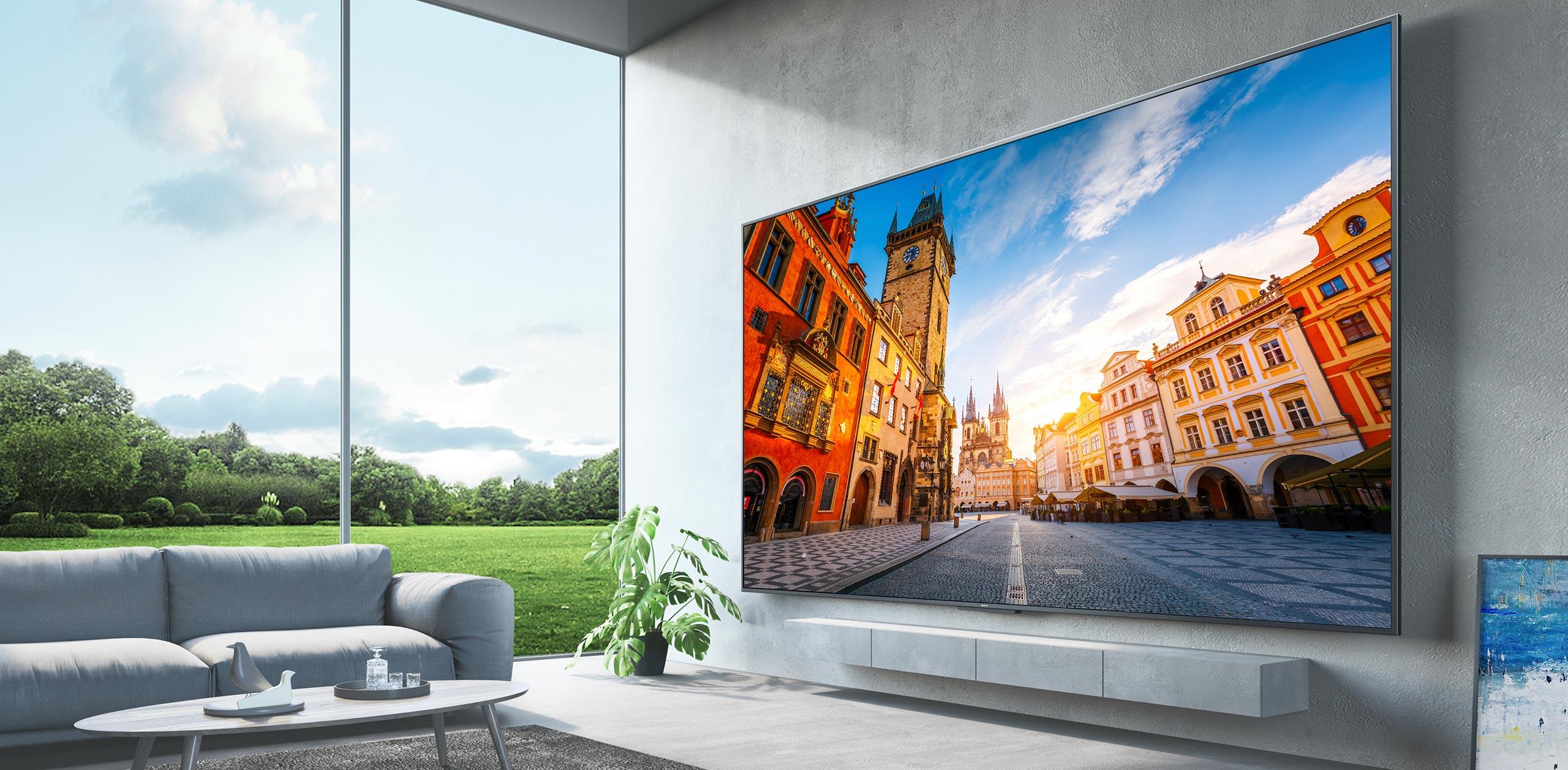 Así de complicado resulta instalar la gigantesca Redmi TV Max de 98 pulgadas, grúa de por medio incluida