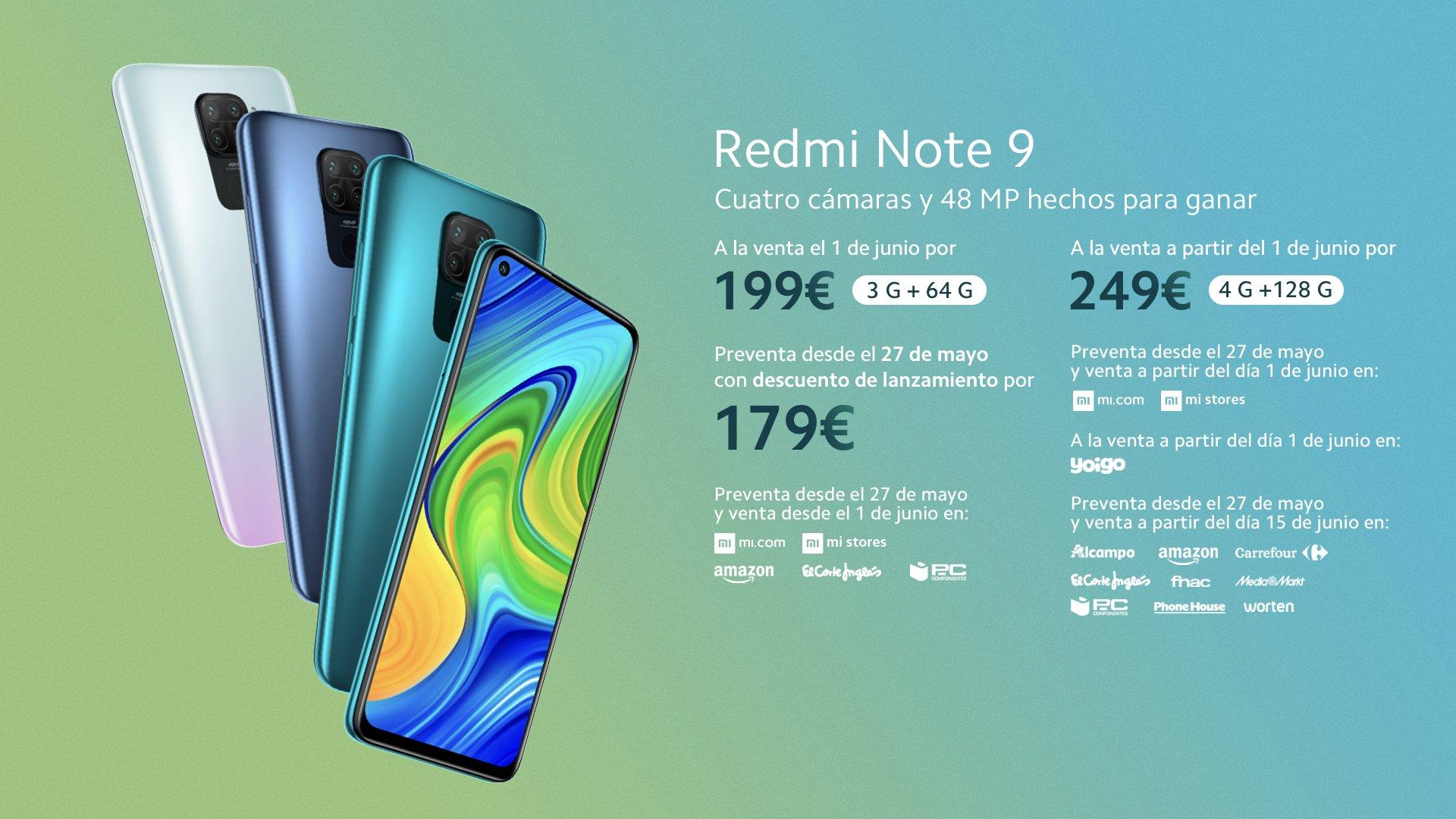 Los Redmi Note 9 y Note 9 Pro salen a la venta en España: conoce sus precios y características. Noticias Xiaomi Adictos