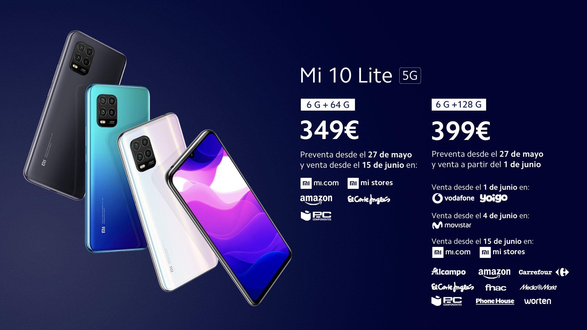 Xiaomi Mi 10 Lite, características, fecha y precio. Noticias Xiaomi Adictos