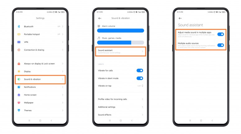 A new, more advanced sound control system is about to arrive in MIUI 12. Xiaomi  News