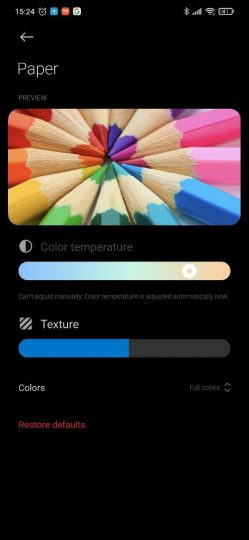 """Xiaomi implements a new style """"Paper"""" in the reading mode of MIUI 12. News Xiaomi"""