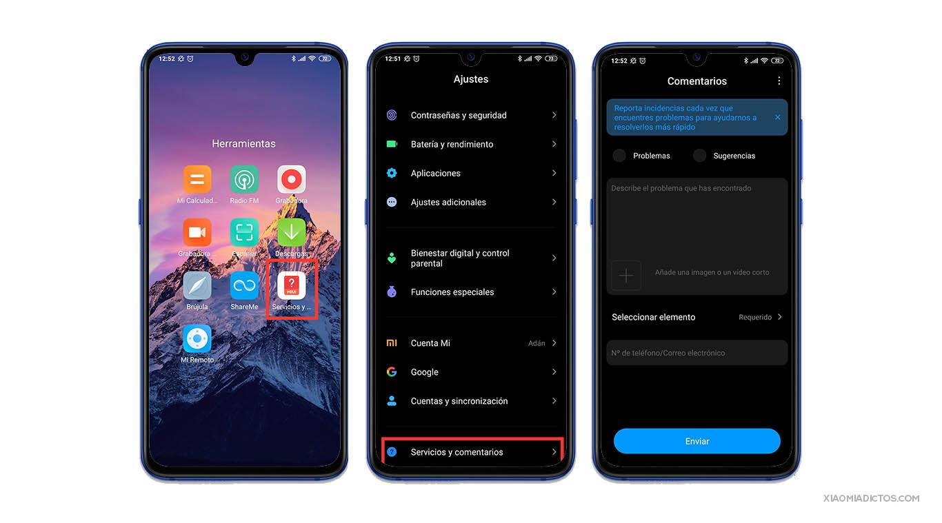 Cómo reportar los problemas de software de tu Xiaomi: errores, fallos y bugs. Noticias Xiaomi Adictos