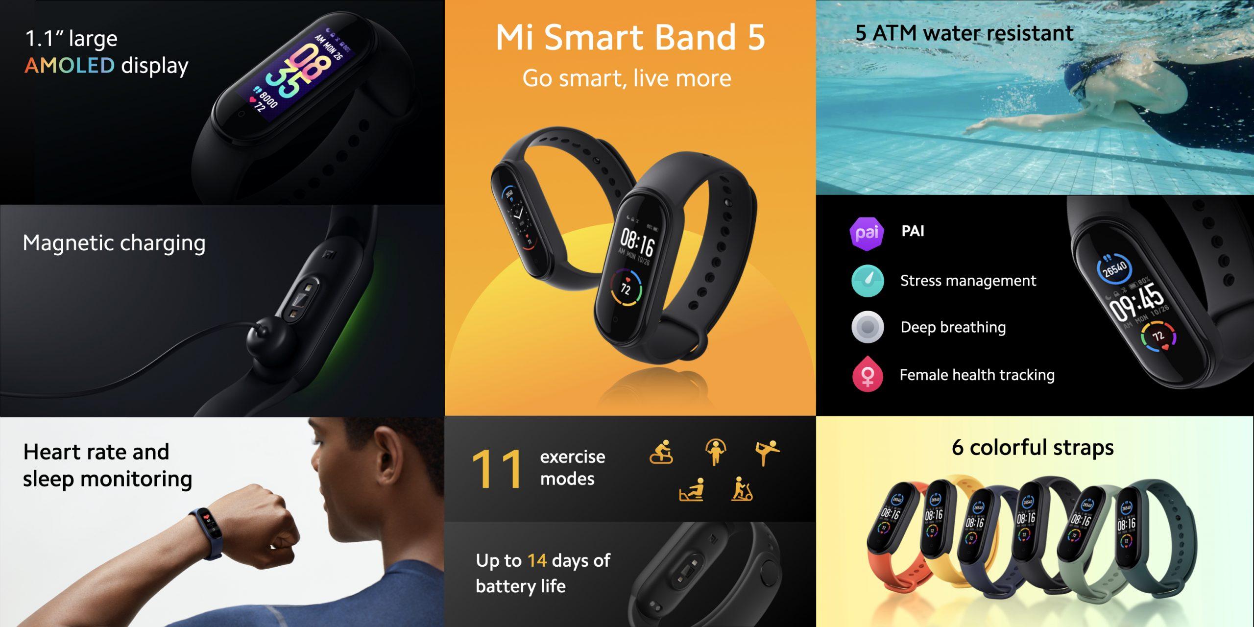 Xiaomi Mi Smart Band 5 Global, características, especificaciones y precio. Noticias Xiaomi Adictos