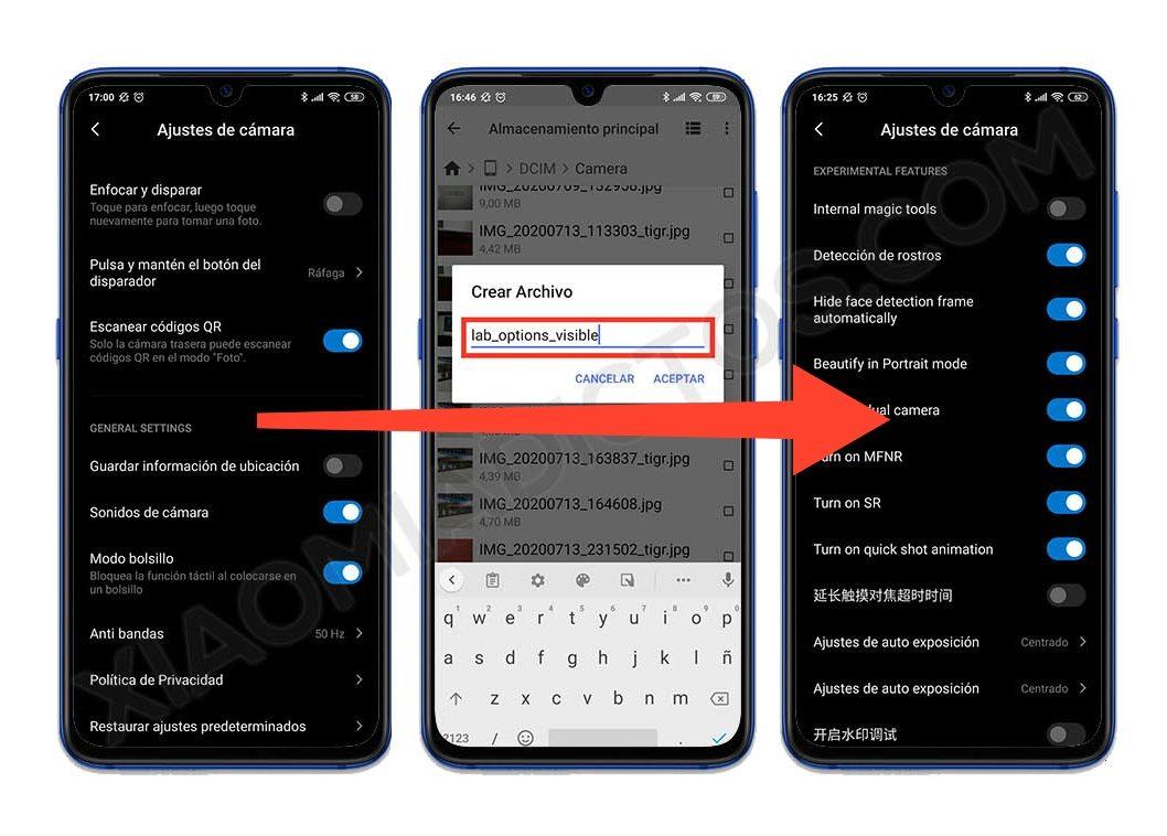 activar las opciones ocultas de la cámara de tu Xiaomi MIUI. Noticias Xiaomi Adictos