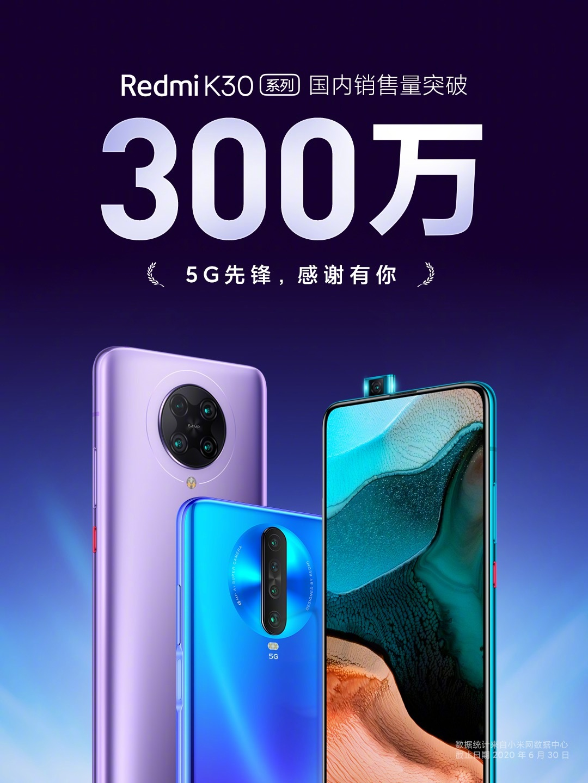 La Serie Redmi K30 de Xiaomi acumula más de 3 millones de unidades vendidas. Noticias Xiaomi Adictos