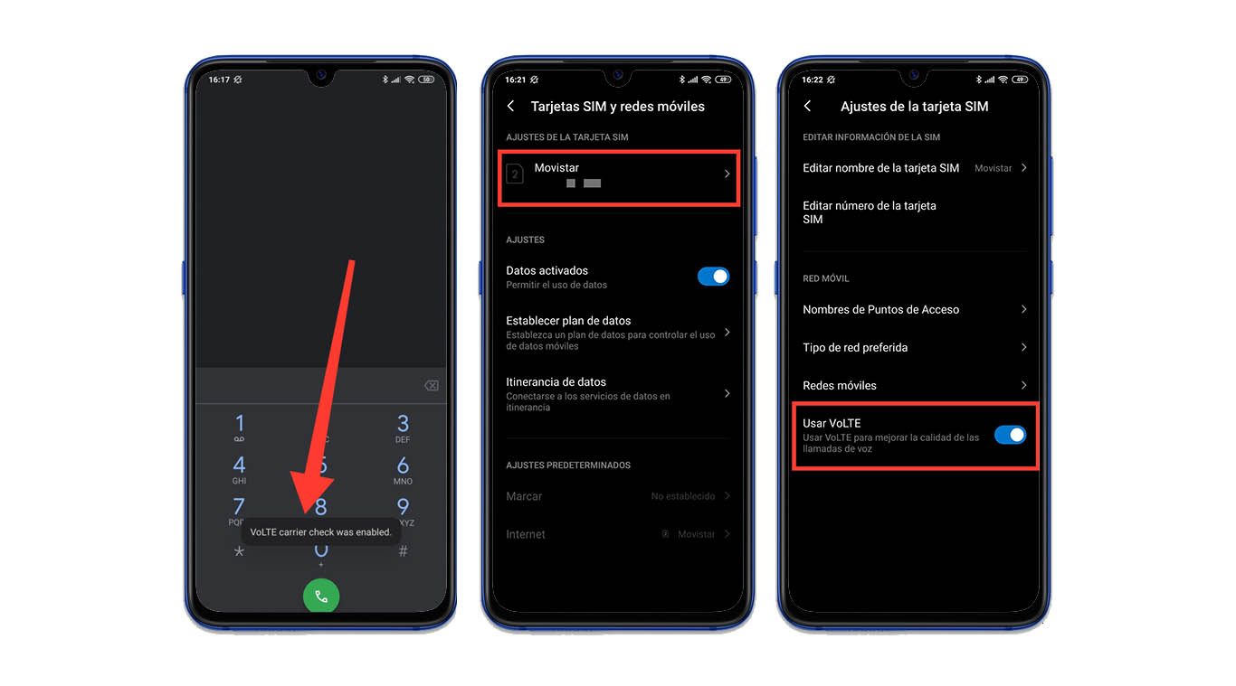Activate VoLTE Xiaomi, Redmi or POCO from movistar, vodafone 4G. Xiaomi  News
