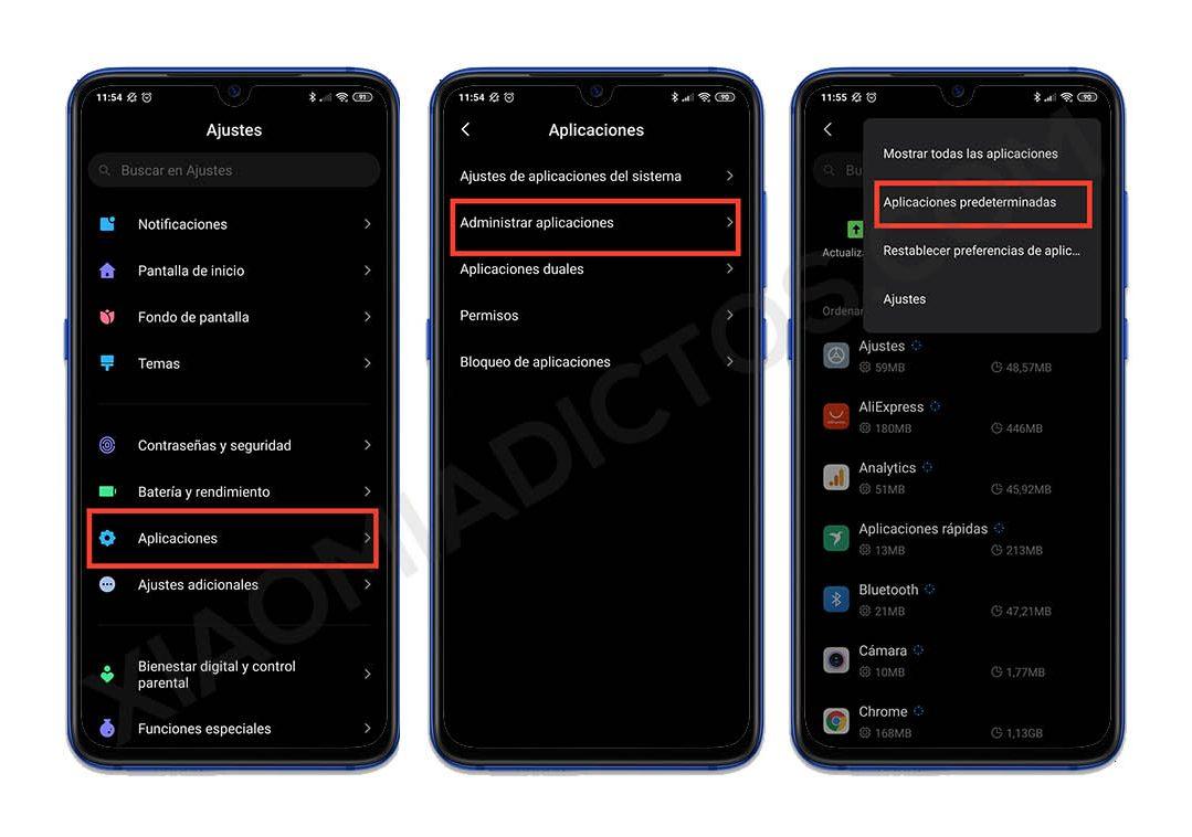 cambiar aplicaciones predeterminadas xiaomi miui apps reproductor, launcher, teclado gcam, etc. Noticias Xiaomi Adictos