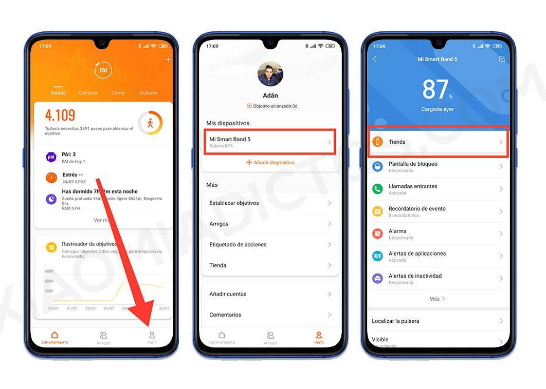 Así puedes crear tu propio fondo personalizado para la Xiaomi Mi Band 5. Noticias Xiaomi Adictos