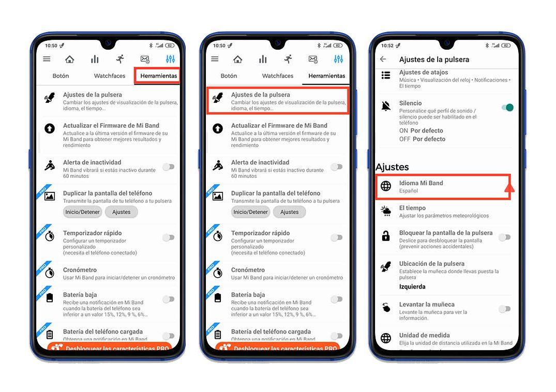 Cómo configurar la Xiaomi Mi Band 5 en español (versión China). Noticias Xiaomi Adictos