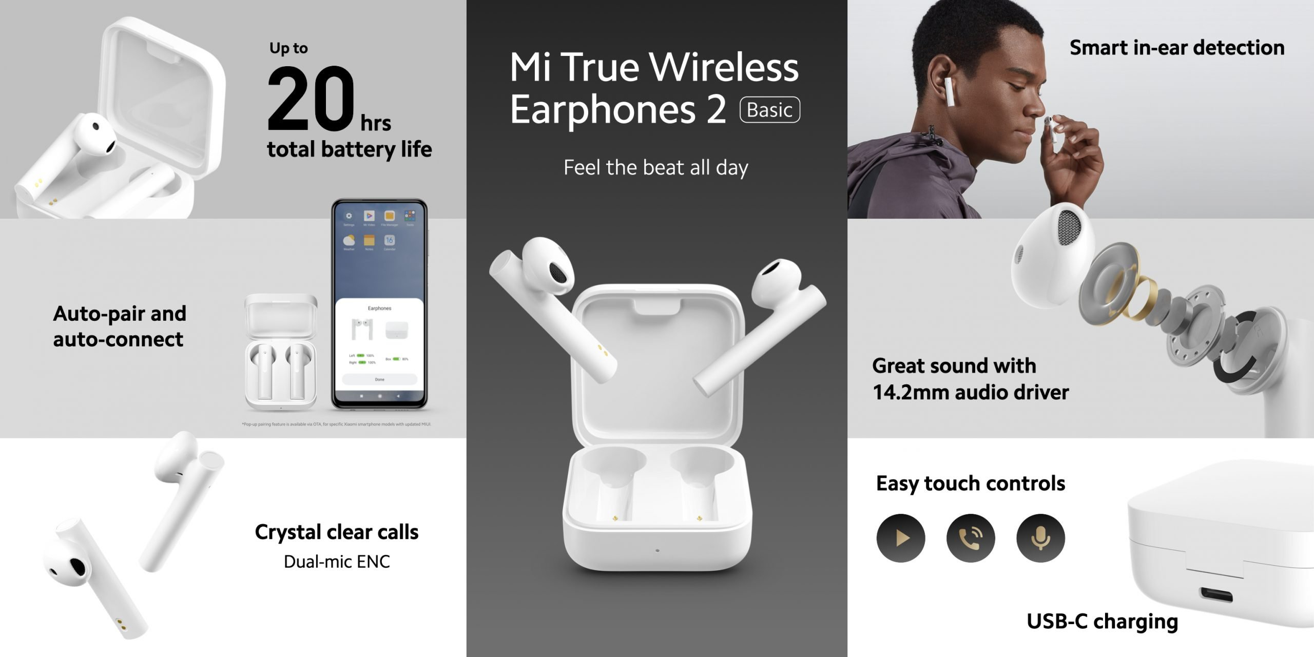 auriculares inalámbricos Xiaomi Mi True Wireless Earphones 2 Basic. Noticias Xiaomi Adictos