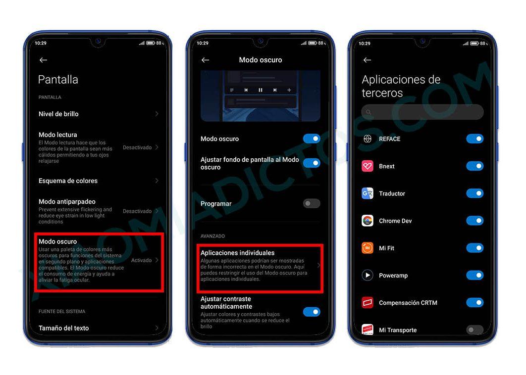 activar modo oscuro miui 12 en aplicaciones terceros xiaomi. Noticias Xiaomi Adictos