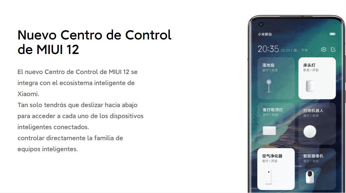 Xiaomi mejora el Control Center de MIUI 12 con accesos directos a sus gadgets inteligentes. Noticias Xiaomi Adictos