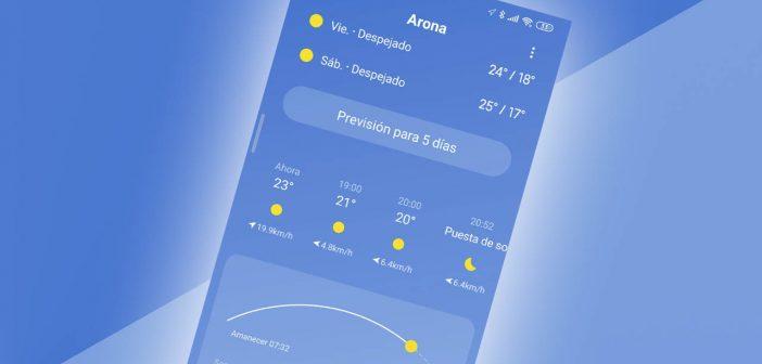Xiaomi actualiza su aplicación del tiempo con nuevas mejoras: ya puedes descargarla. Noticias Xiaomi Adictos
