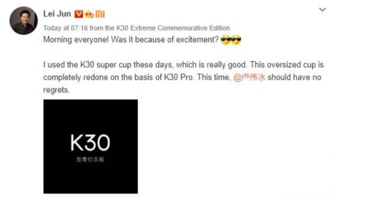 Xiaomi nos desvela nuevos detalles de las características del Redmi K30 Ultra. Noticias Xiaomi Adictos