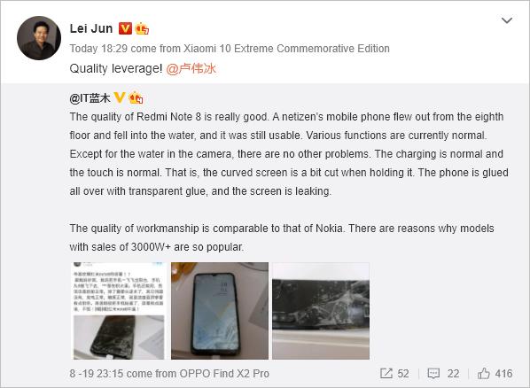 A pesar de haber caído desde un 8º piso este Xiaomi continúa funcionando como si nada. Noticias Xiaomi Adictos