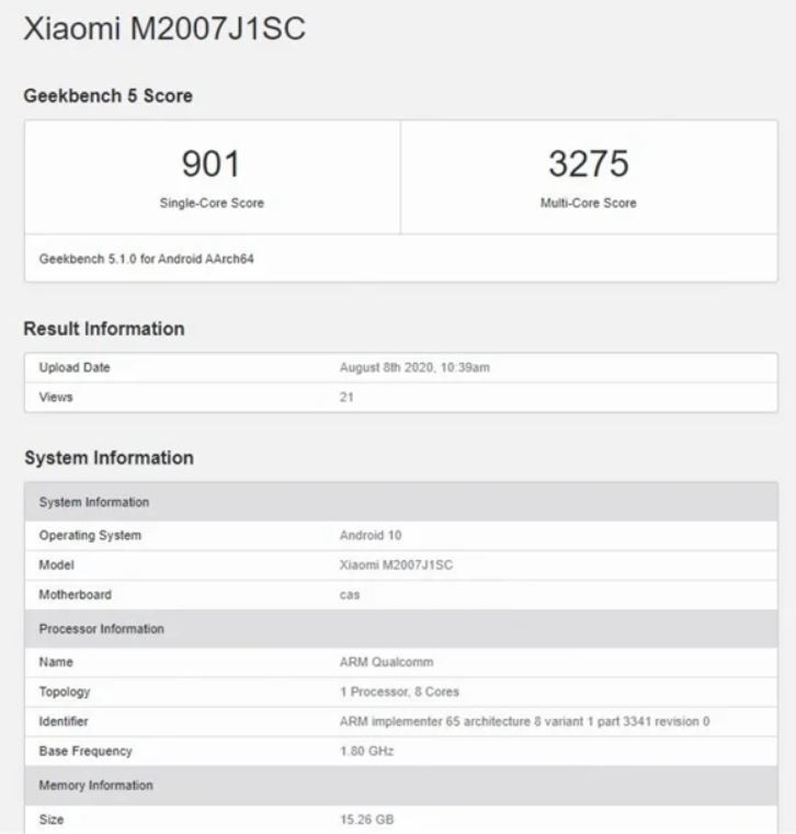 El Xiaomi Mi 10 Ultra se deja ver en GeekBench demostrando su potencial