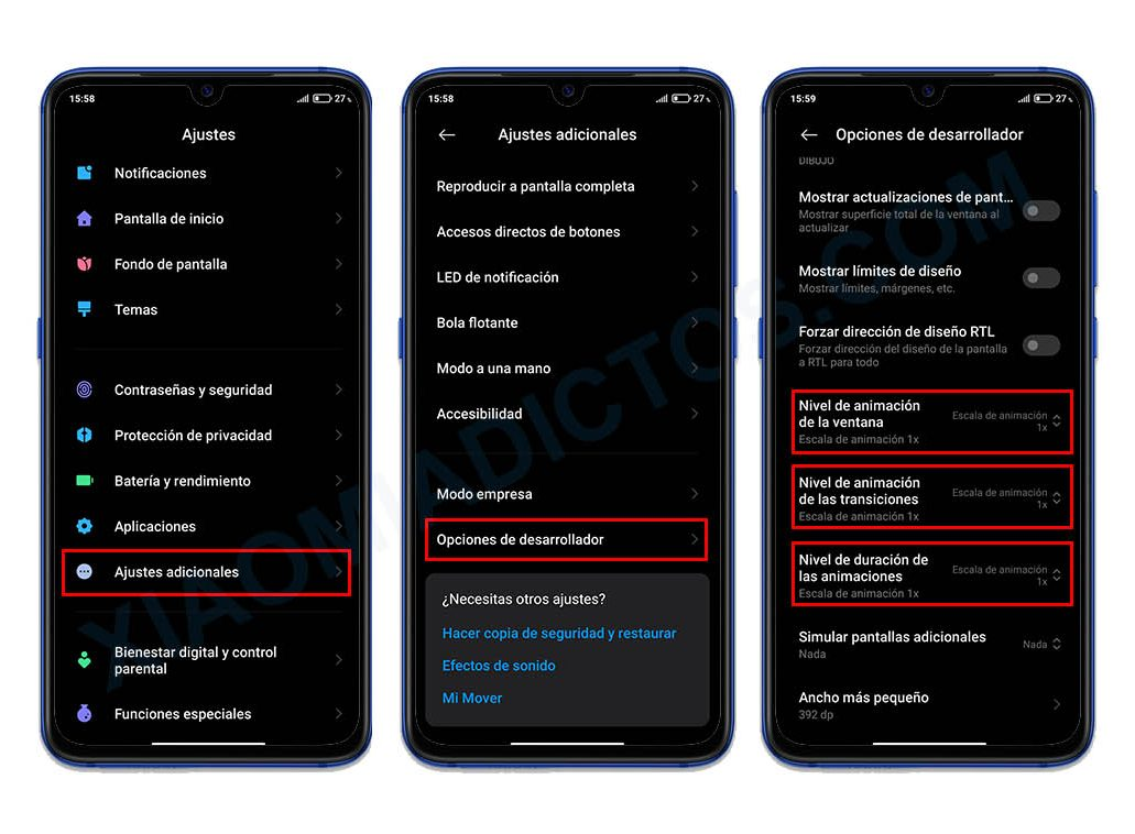 Mejorar fluidez, rendimiento y acelerar animaciones MIUI 12. Noticias Xiaomi Adictos