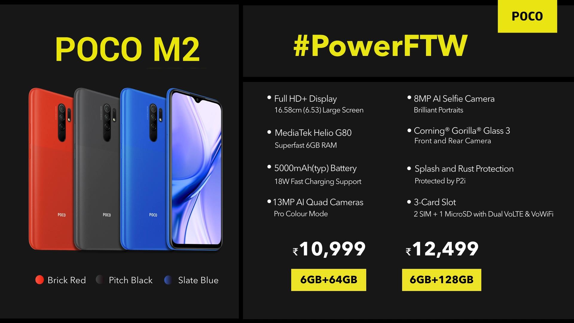 El nuevo POCO M2 ya es oficial aunque por el momento tan solo en India. Noticias Xiaomi Adictos