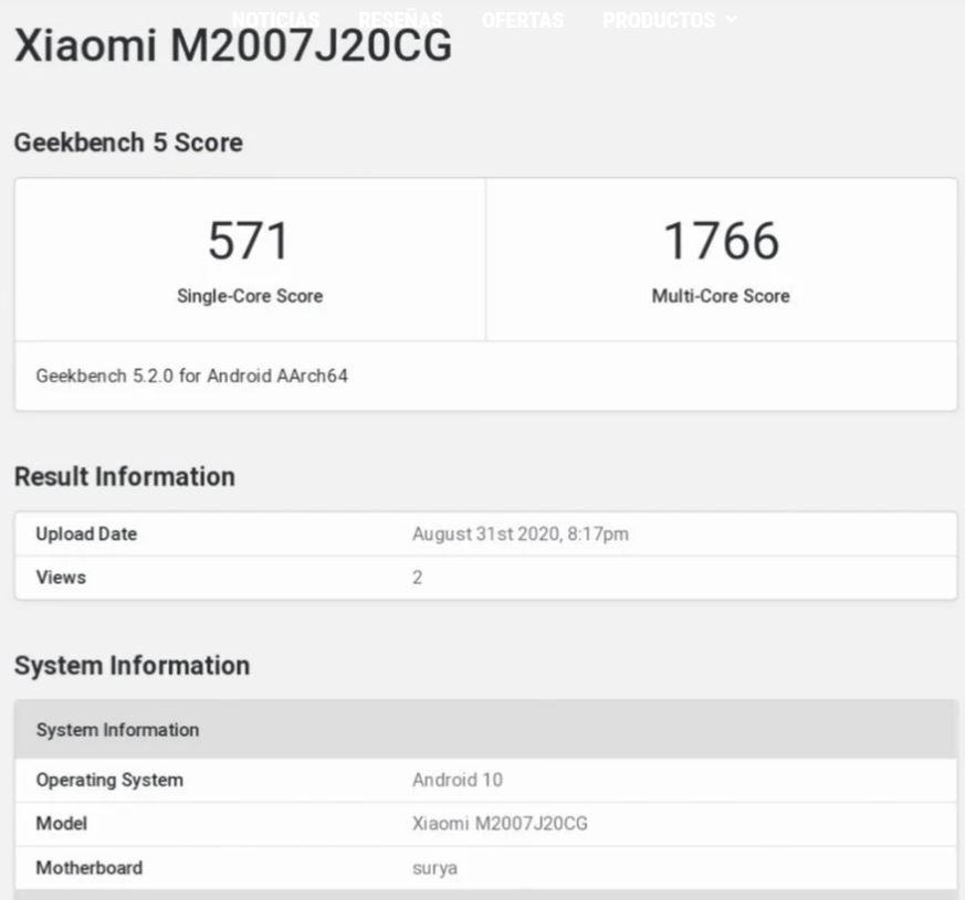 El nuevo POCO X3 NFC de Xiaomi se deja ver en GeekBench desvelando su rendimiento. Noticias Xiaomi Adictos