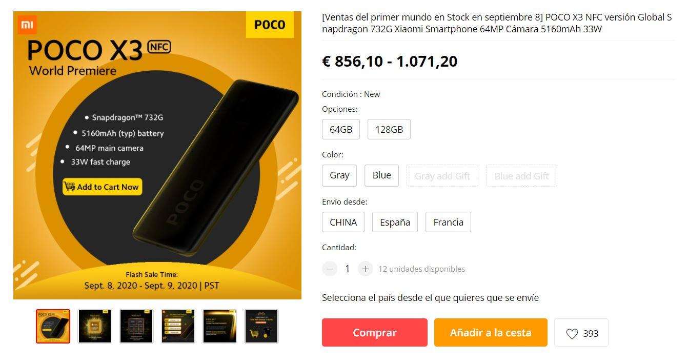 comprar xiaomi poco x3 nfc mejor precio aliexpress españa. Noticias Xiaomi Adictos