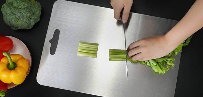 Xiaomi pone a la venta una elegante tabla de cortar de acero inoxidable anti-bacteriana. Noticias Xiaomi Adictos