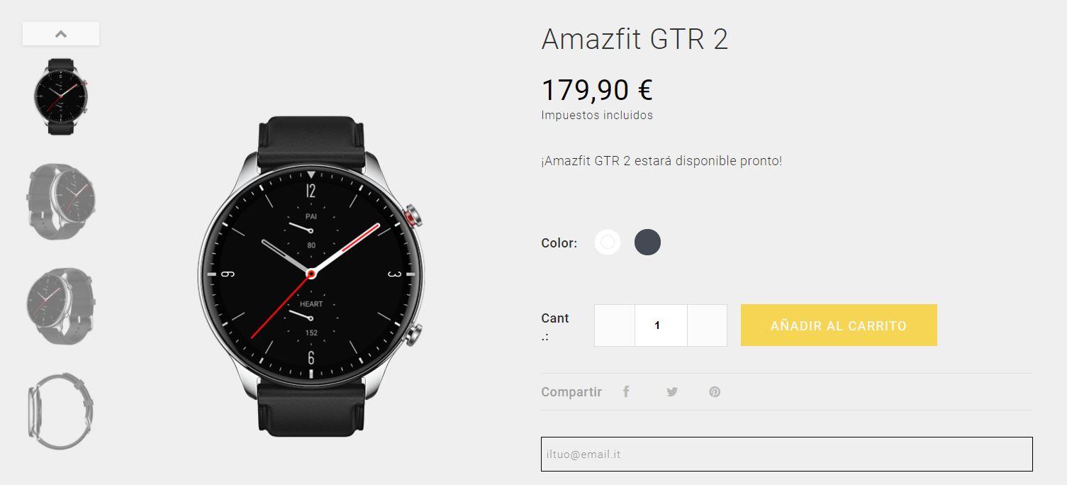 Se filtra el precio de la versión global de los Amazfit GTS 2 y GTR 2. Noticias Xiaomi Adictos