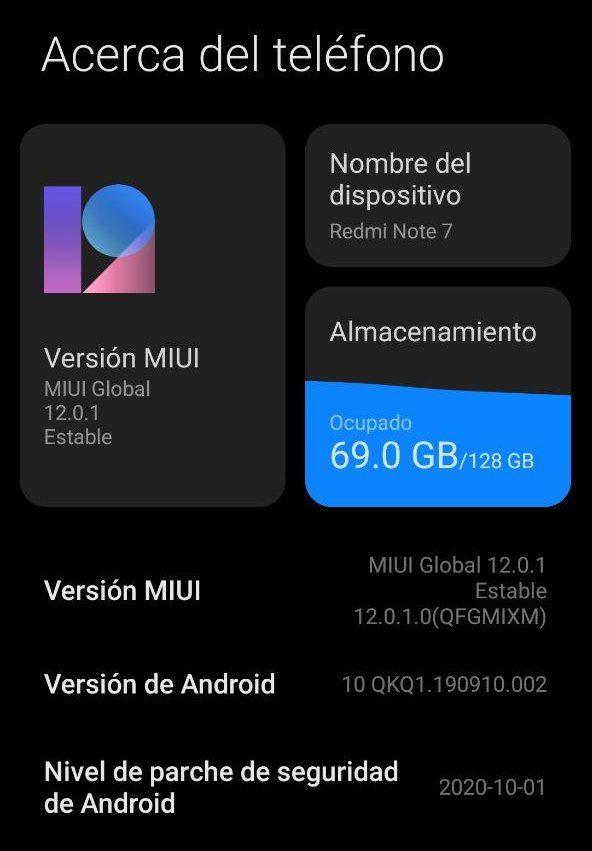 Redmi Note 7 Global se actualiza a MIUI 12 Estable (Descarga). Noticias Xiaomi Adictos