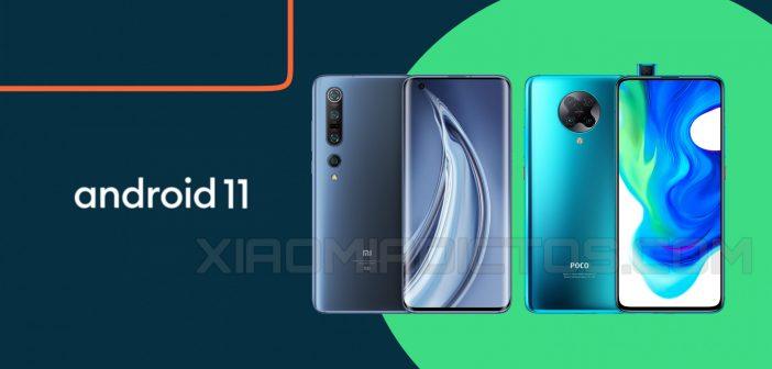 Android 11 está llegando a Xiaomi Mi 10 Pro y POCO F2 en China. Noticias Xiaomi Adictos