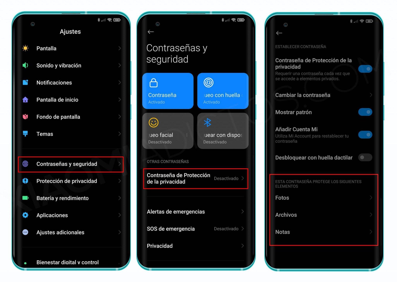 Así puedes proteger tus elementos privados desde un Xiaomi con MIUI 12. Noticias Xiaomi Adictos