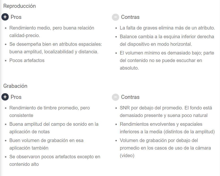Puntuación total del POCO X3 NFC (Sonido). Noticias Xiaomi Adictos