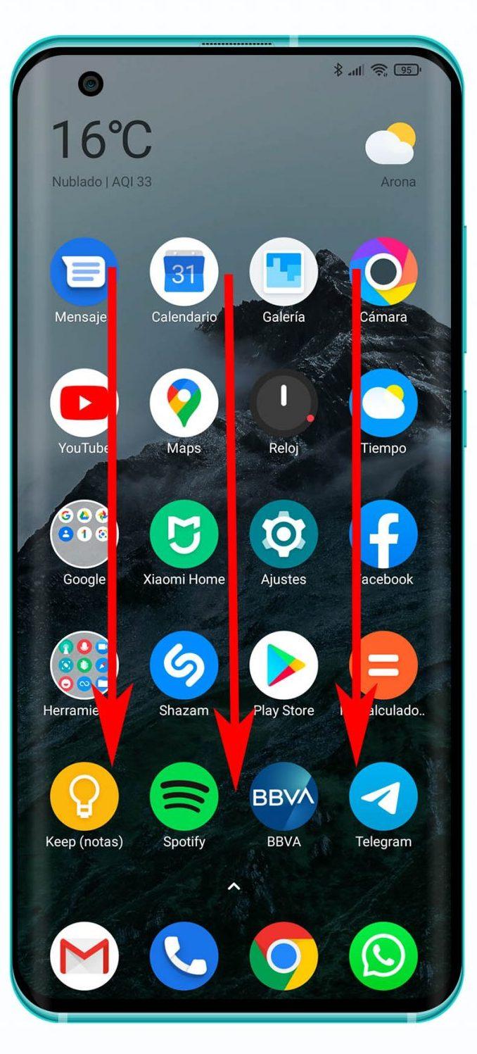 Captura de pantalla Xiaomi mediante gestos. Noticias Xiaomi Adictos