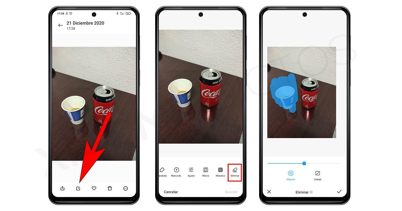Elimina objetos o personas de una fotografía desde el propio editor de Xiaomi. Noticias Xiaomi Adictos