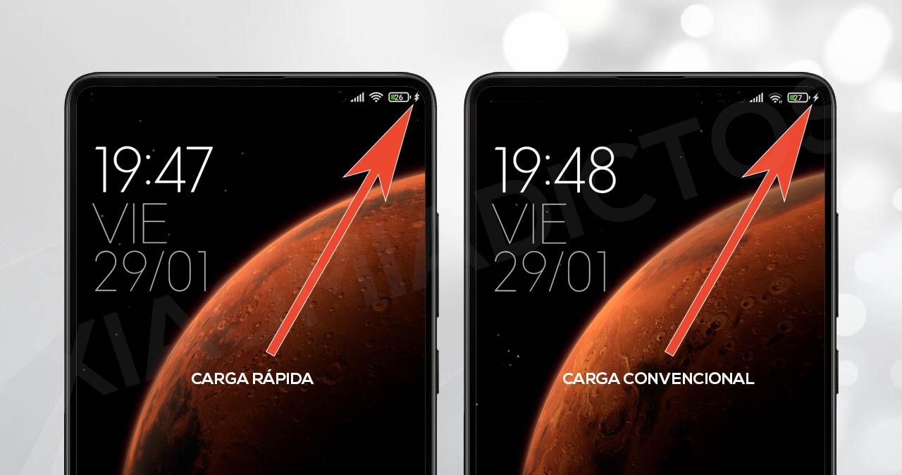 saber si tu Xiaomi se está cargando con carga rápida. Noticias Xiaomi Adictos