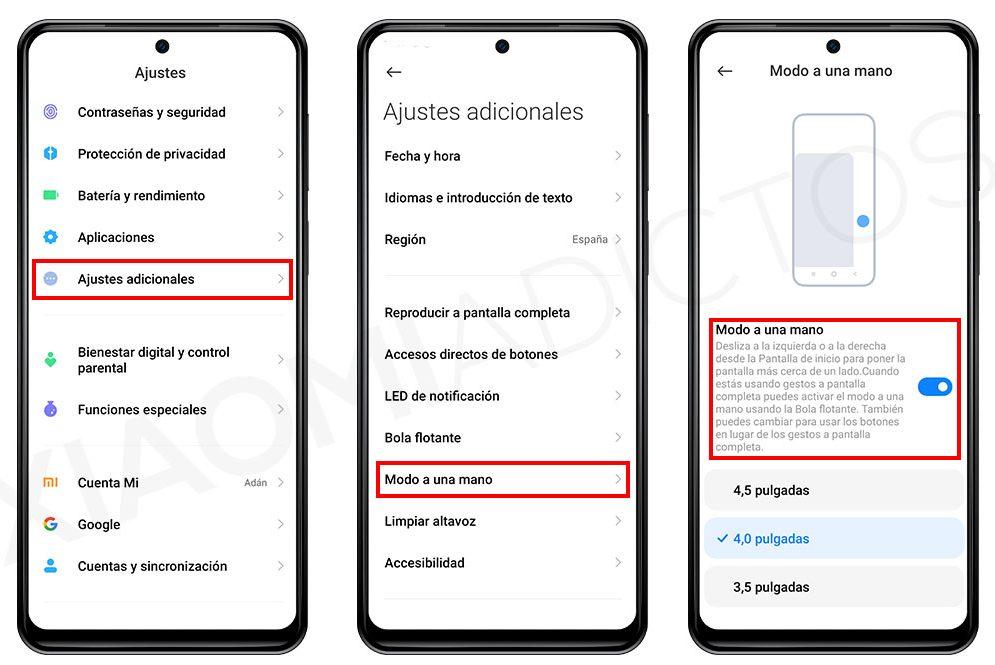 Cómo activar el modo a una mano de MIUI en tu Xiaomi, Redmi o POCO. Noticias Xiaomi Adictos