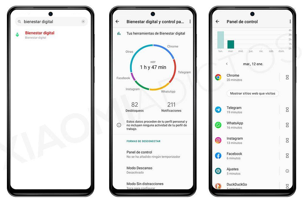 contabilizar horas aplicaciones miui de uso en un Xiaomi. Noticias Xiaomi A