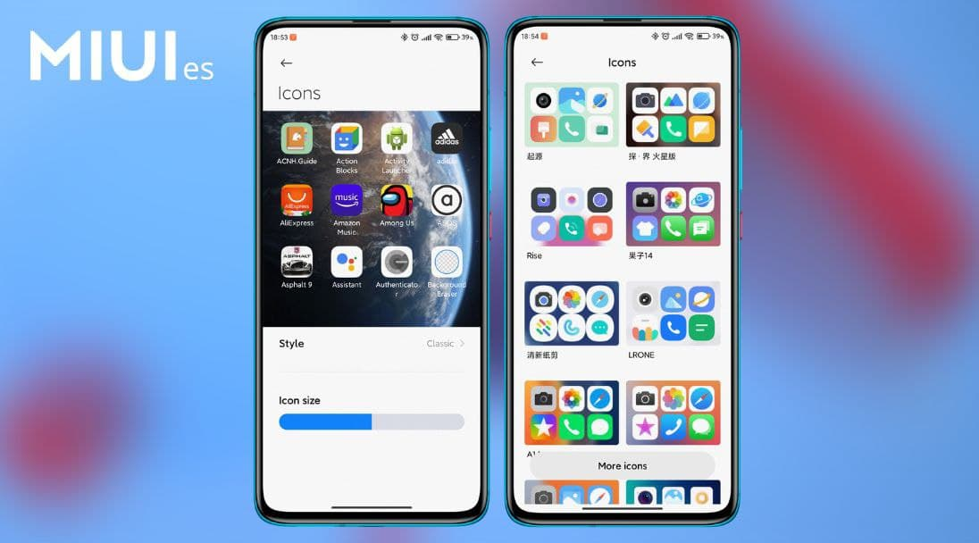 MIUI 12.5 will allow changing the design of the icons in a simpler way than before