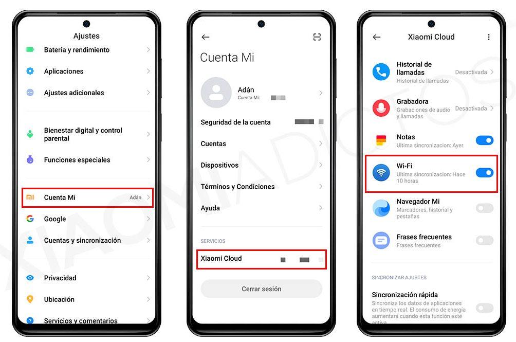Así puedes hacer una copia de todas tus contraseñas WiFi con Xiaomi Cloud. Noticias Xiaomi Adictos