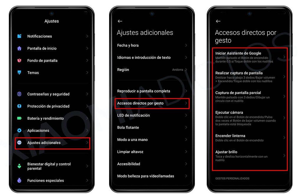 Estos son todos los Xiaomi que soportan gestos mediante nudillos. Noticias Xiaomi Adictos