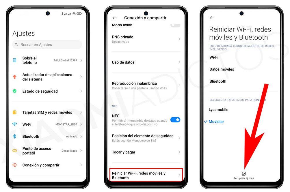 Cómo reiniciar la conexión Bluetooth, WiFi y de datos de tu Xiaomi de forma sencilla. Noticias Xiaomi Adictos