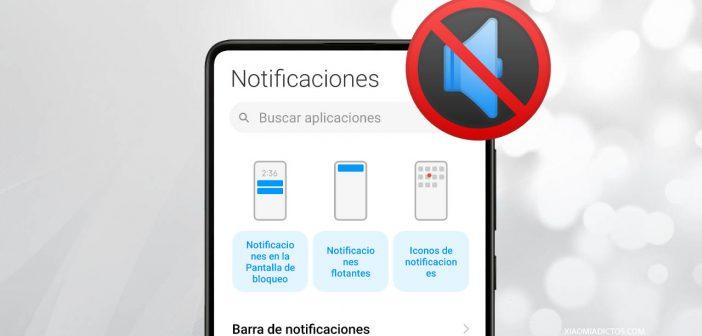 silenciar notificaciones xiaomi, desactivar aplicación, vibración o led. Noticias Xiaomi Adictos